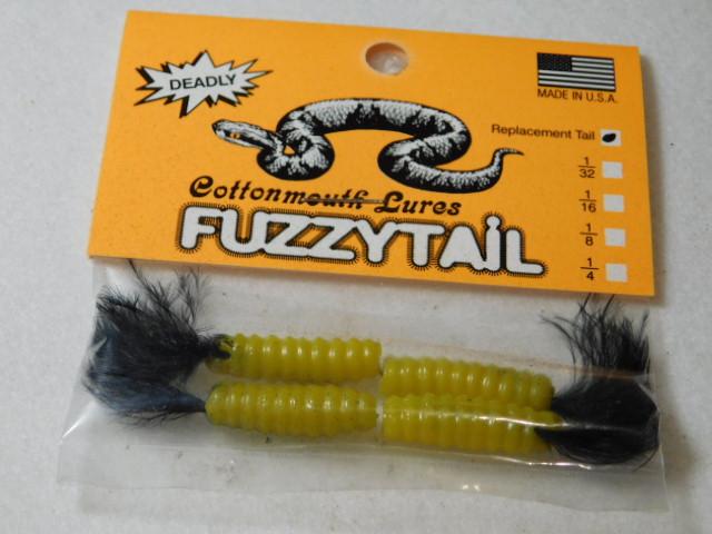Yellow/Black Fuzzytail Jig