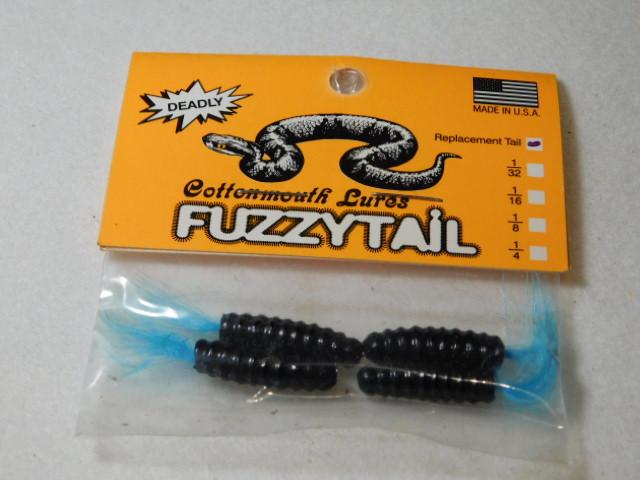Black/Blue Fuzzytail Jig