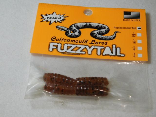 Brown/White Fuzzytail Jig
