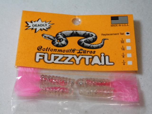 Clear Glitter/Pink Fuzzytail Jig