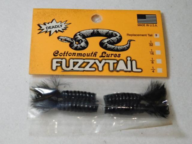 Black/Black Fuzzytail Jig