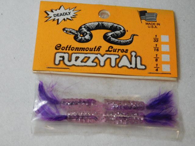 Clear Glitter/Purple Fuzzytail Jig