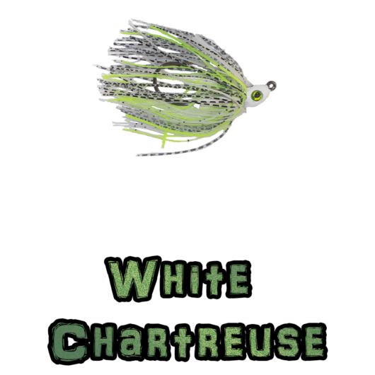 White/Chartreuss Lock-Em-Up Swim Jig