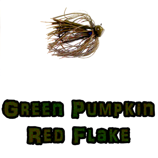 Green Pumpkin Red Flake footbal jig lock-em-up Lures