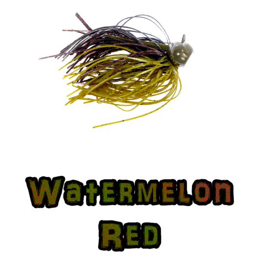 Watermelon Red Football Jig lock-em-up Lures