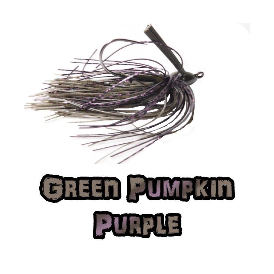 Green Pumpkin/Purple Lock-Em-Up Jig