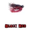 Black/Red football jig lock-em-up lures