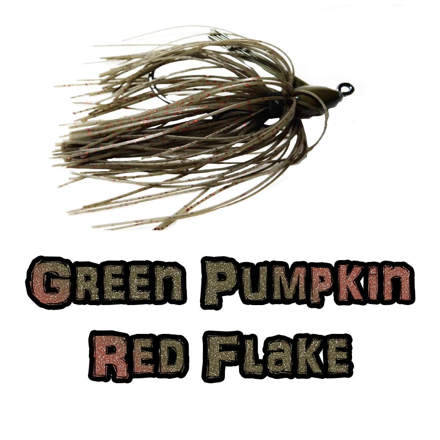 Green Pumpkin/Red Flake lock-em-up Jig