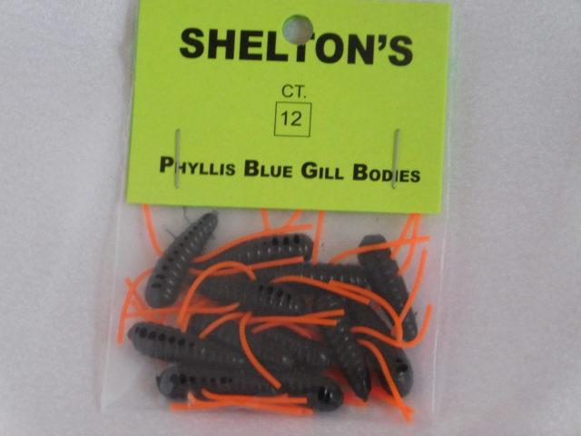 Phyllis Blue Gill Bug Replacement Body Black/Orange