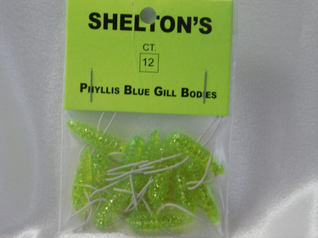 Phyllis Blue Gill Bug Replacement Body Chart./White